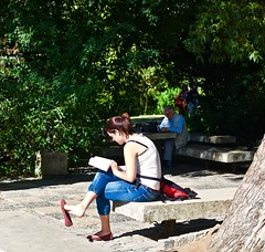 Reading at the garden
