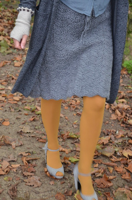 wood & wool midi skirt