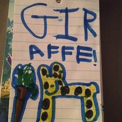 Teagan drew a GIRaffe!  #kindyart