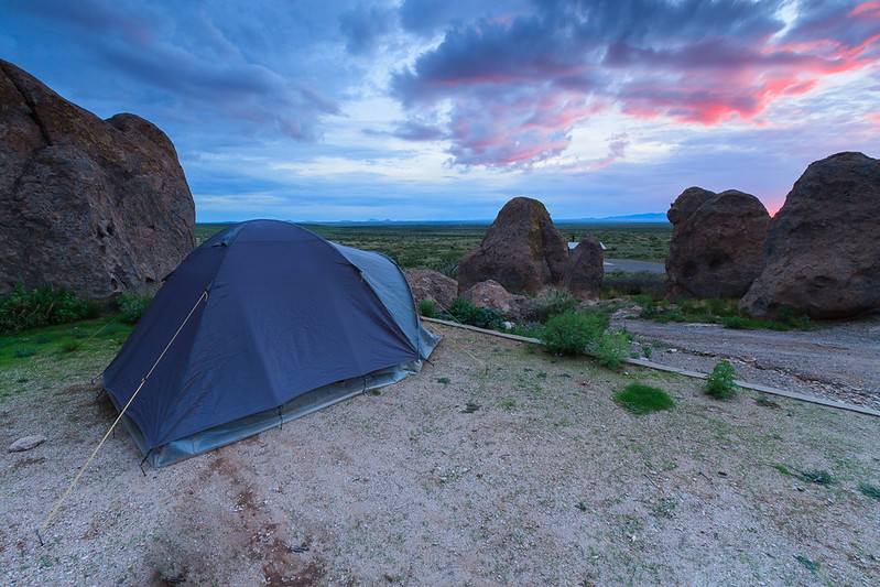 Tent camping @ city of rocks state park