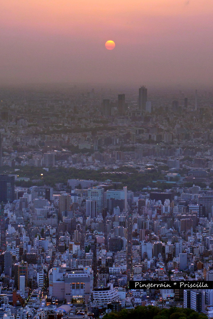 Tokyo Sunset from 350m high
