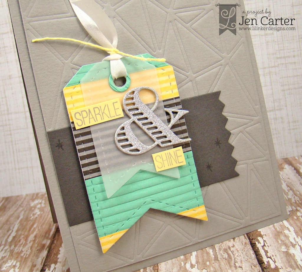 Jen Carter LID Sparkle & Shine Tag Card CLoseup