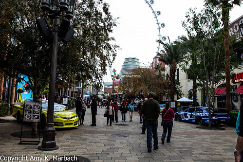Sprint Cup Cars on display at The Linq