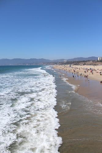 Pacific Ocean in Santa Monica, California