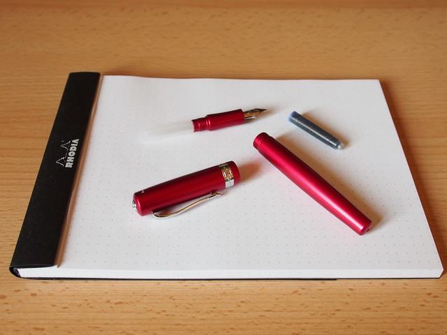Kaweco Allrounder Red Fine Nib - Broken Down