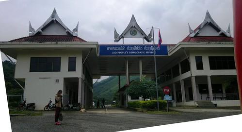 Border checkpoint Laos Vietnam