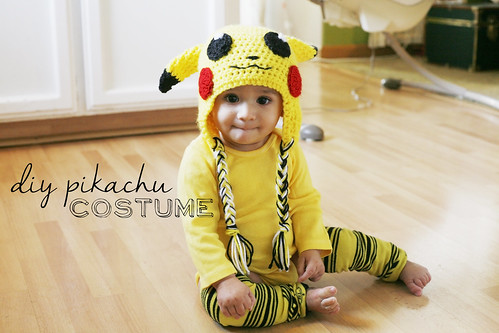 sc 1 st  Little Big & Thrifty Costumes: DIY Pikachu Baby Costume