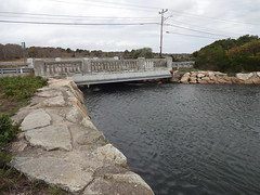 View from front of the undersized Parkers River Bridge scheduled to be replaced