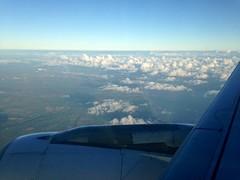 Breaking the Irish Coast . from Seat 11f Airbus A320.
