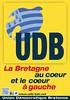 Affiche de l'UDB - La Bretagne au coeur et le coeur à gauche