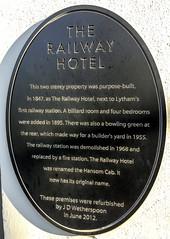Photo of The Railway Hotel, Lytham St Annes black plaque