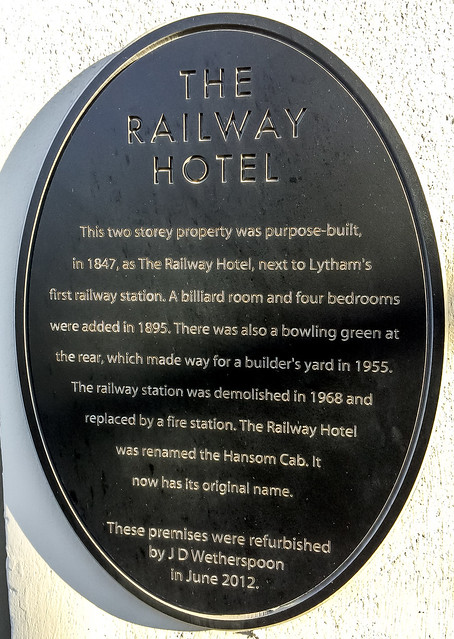 Photo of The Railway Hotel, Lytham St Annes black plaque