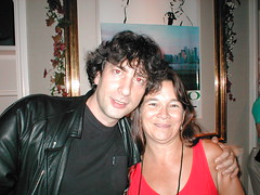 Ruth Nestvold and Neil Gaiman at ConJose