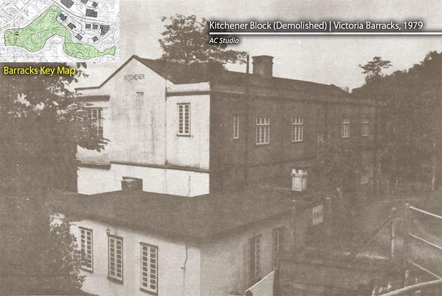 Kitchener block demolished victoria barracks 1979 for Küchenleerblock