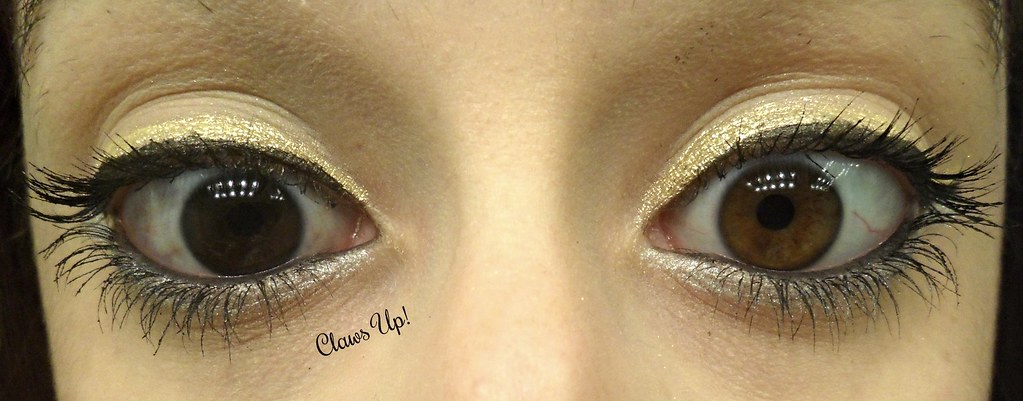 Gold and silver eyeliner makeup look