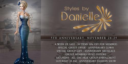 Danielle 5th Anniversary Banner