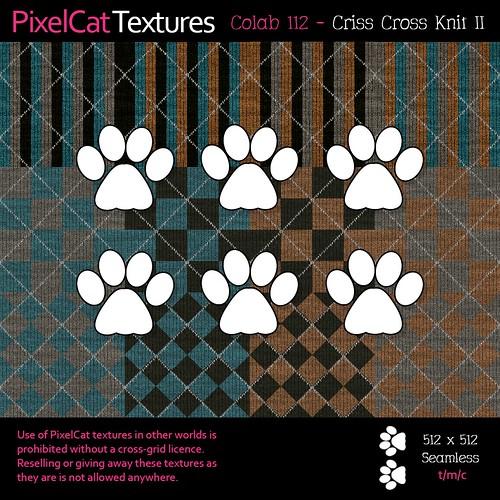 PixelCat Textures - Colab 112 - Criss Cross Knit II