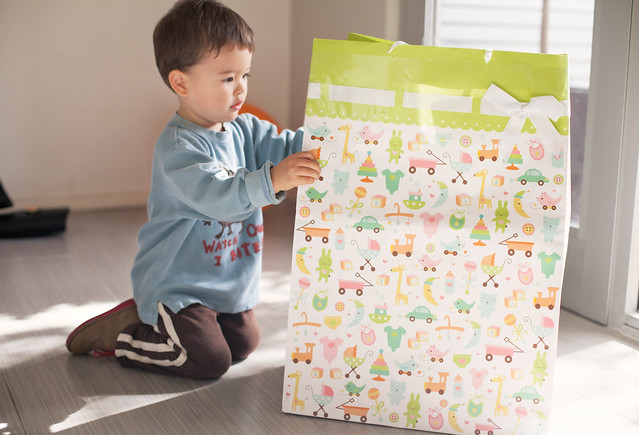 cute & little | picking out sibling gift for new baby | #justgotjingled
