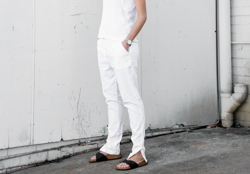 MODERN LEGACY fashion blog all white street style black Birkenstocks (1 of 1)