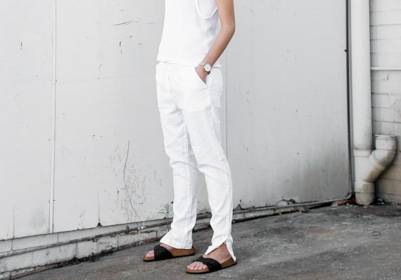 MODERN LEGACY fashion blog all white street style black Birkenstocks (1 of 1)