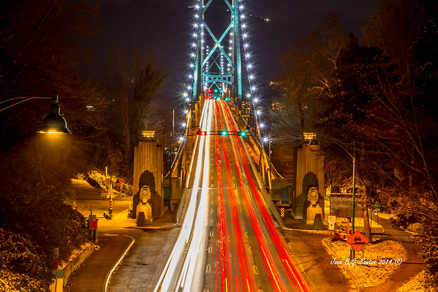 Life in the fast lane at Lion Gate Bridge