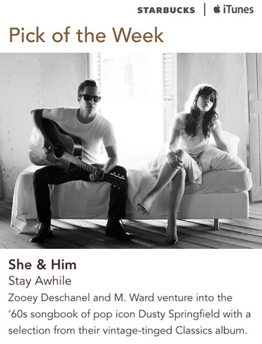 Starbucks iTunes Pick of the Week - She & Him - Stay Awhile