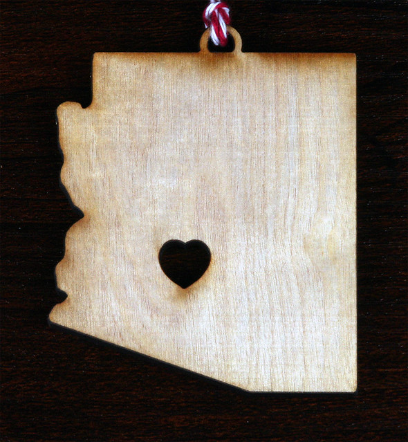 LetterCraft Arizona Heart Ornament