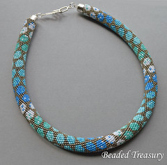 """City Style"" bead crochet necklace / bead crochet pattern"