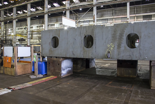 40-ton keel section of the new ferry Chimacum