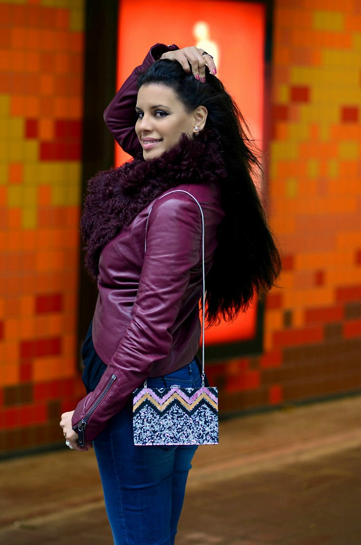 DSC_9019 Tony Cohen Jacket, Mise En Dior Earrings, Tamara Chloé, Burgundy Leather jacket Zara glitter (2)