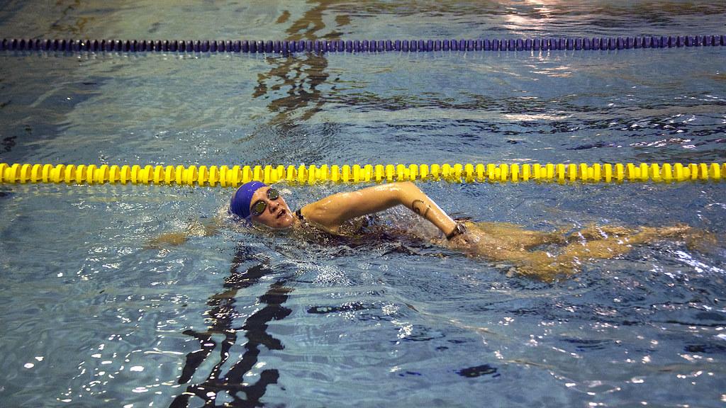 Swimmer in the Finkbine Pool