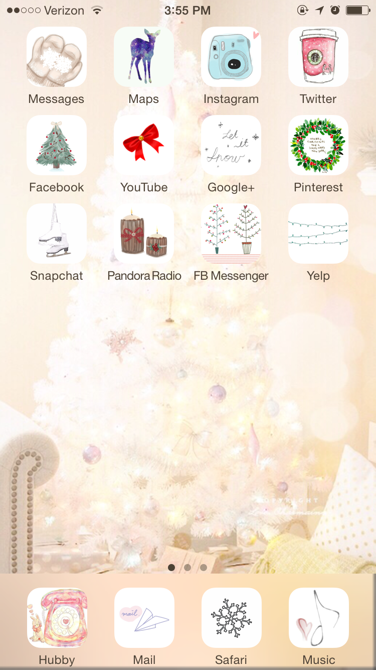 Decorate your phone for Christmas