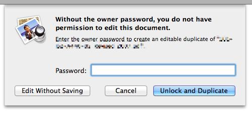 PDF password request