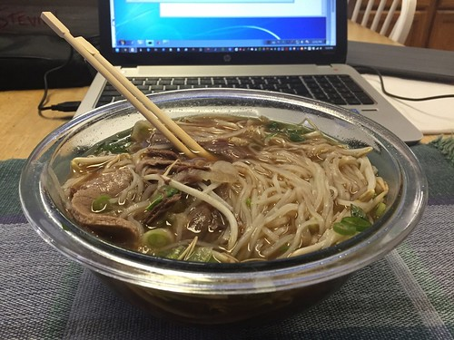 Pho. Before the Microwave died and Sunday plans changed.