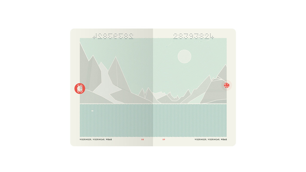 Norwegian new passports, design by Neue Design