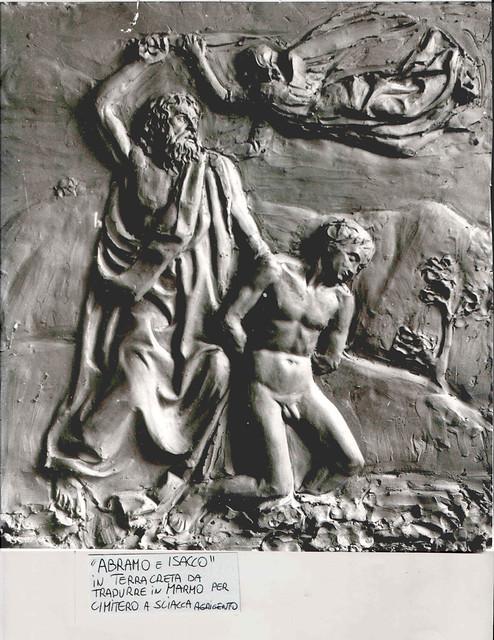 abraamo e isacco  scultura del vincenzi