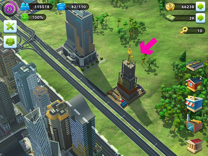 sim city vu tower