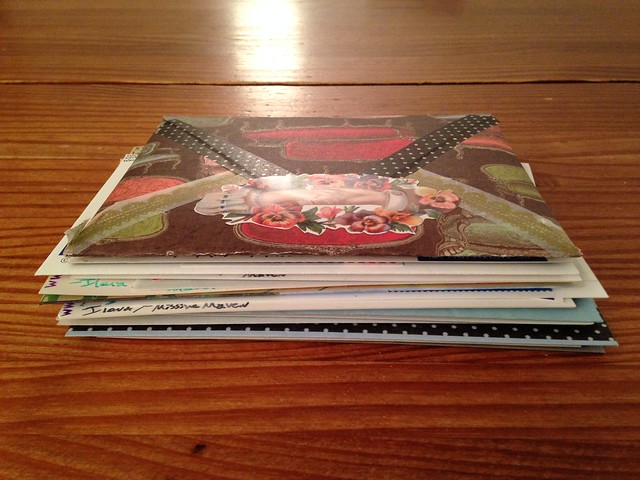 Outgoing mail pile, Dec 15