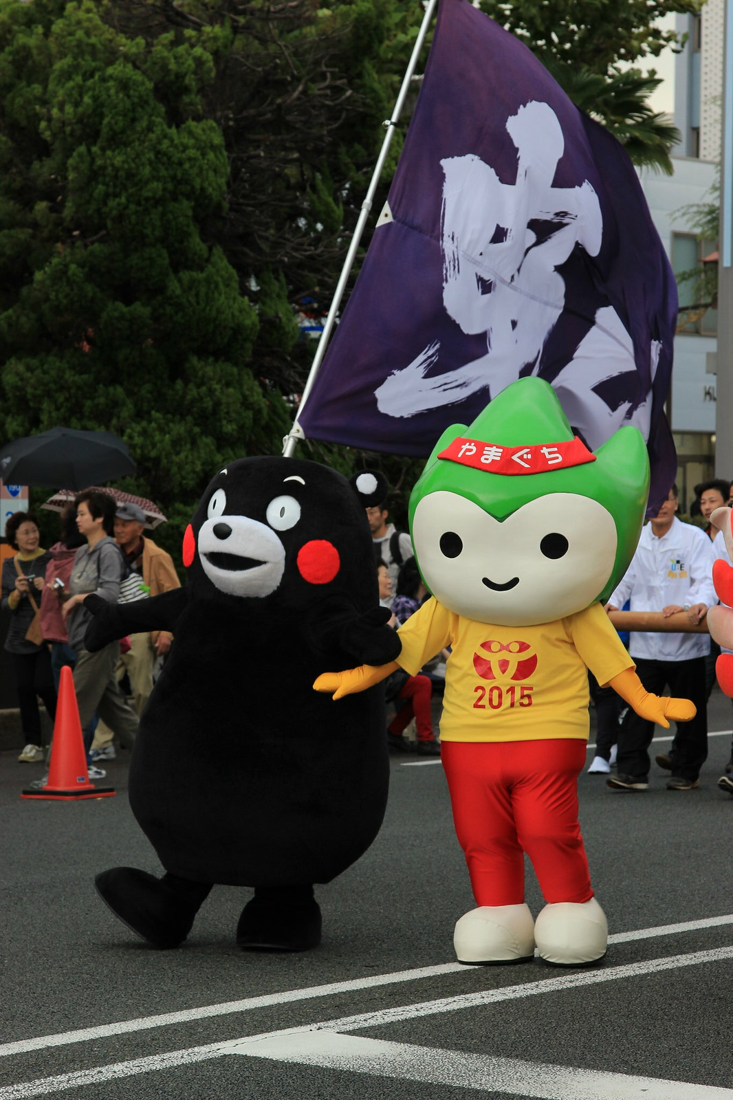 Kumamon and Choruru, Ube Festival, Ube