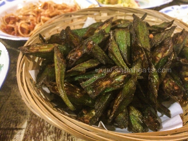 Deep fried okra sprinkled with cumin