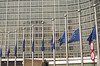 Half-mast. European Commission, Berlaymont, 8 January