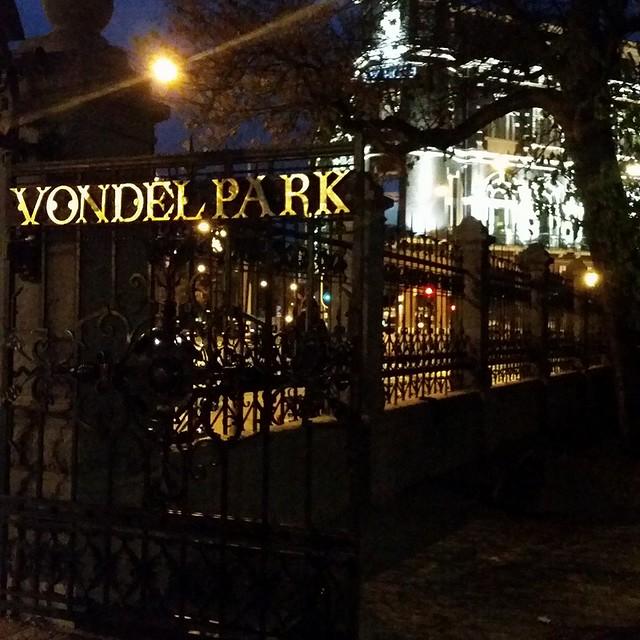 Vondelpark Gate in Amsterdam