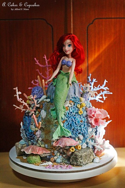 Little Mermaid Doll Cake by Alfred Fernandez Nimo