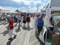 Arts & Crafts Festival on the wooden boardwalk in the City of Long Beach on LBI Long Beach Island, New York, USA