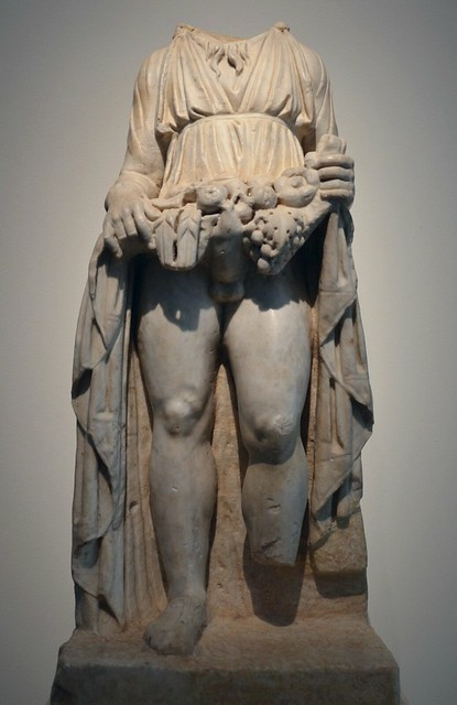 Statue of Priapus, rustic fertility god, protector of livestock, fruit plants, gardens and male genitalia, 1st century AD, from Antequera (Malaga), National Archaeological Museum of Spain, Madrid
