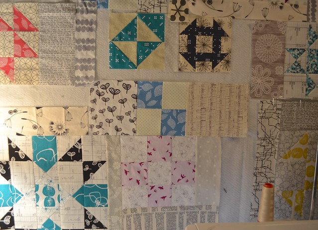 Fitting the quilt together
