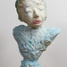 Elise Siegel_Portrait Bust with Pink Lips_2012_ceramic , glaze,underglaze_19X14X8in