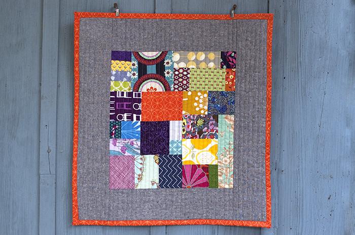 improv mini quilt
