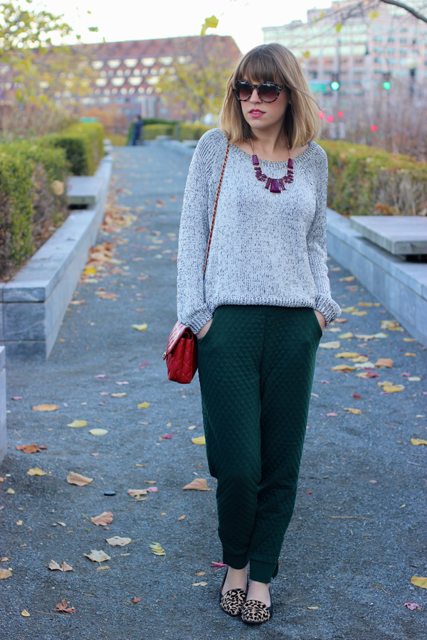 Sweatpants chic, boston fashion blogger