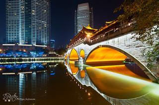 Chengdu Anshun bridge by Philippe Lejeanvre - 乐让菲力